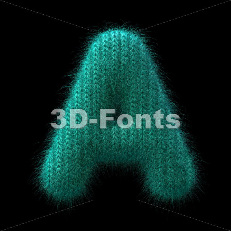 wool letter A - Capital 3d character - 3D Fonts Collections | Top Quality Letters, Numbers and Symbols !