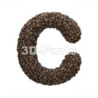 3d Coffee font C - Capital 3d letter - 3D Fonts Collections   Top Quality Letters, Numbers and Symbols !