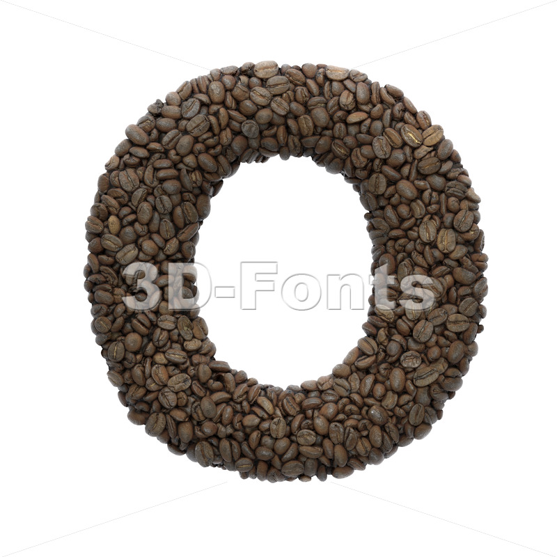 3d roasted beans Upper-case letter O - Large 3d font - 3D Fonts Collections | Top Quality Letters, Numbers and Symbols !
