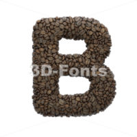Capital coffee beans letter B - Uppercase 3d font - 3D Fonts Collections   Top Quality Letters, Numbers and Symbols !