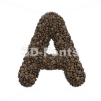 Coffee letter A - Capital 3d character - 3D Fonts Collections   Top Quality Letters, Numbers and Symbols !