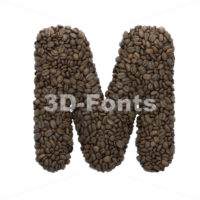 coffee character M - Capital 3d letter - 3D Fonts Collections   Top Quality Letters, Numbers and Symbols !