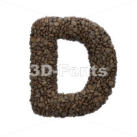 coffee font D - Capital 3d character - 3D Fonts Collections   Top Quality Letters, Numbers and Symbols !