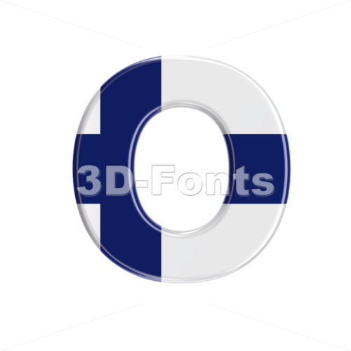 3d Finnish Upper-case letter O - Large 3d font - 3D Fonts Collections | Top Quality Letters, Numbers and Symbols !