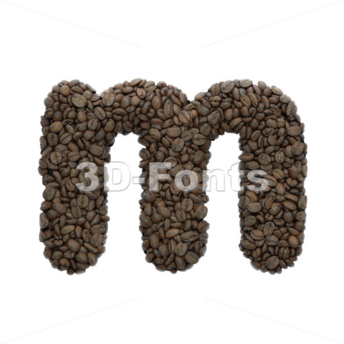 coffee 3d font M - Lowercase 3d letter - 3D Fonts Collections | Top Quality Letters, Numbers and Symbols !