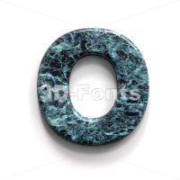 3d blue stone Upper-case letter O - Large 3d font - 3D Fonts Collections | Top Quality Letters, Numbers and Symbols !