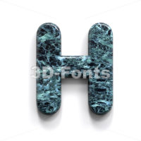 Marble 3d letter H - Upper-case 3d character - 3D Fonts Collections | Top Quality Letters, Numbers and Symbols !
