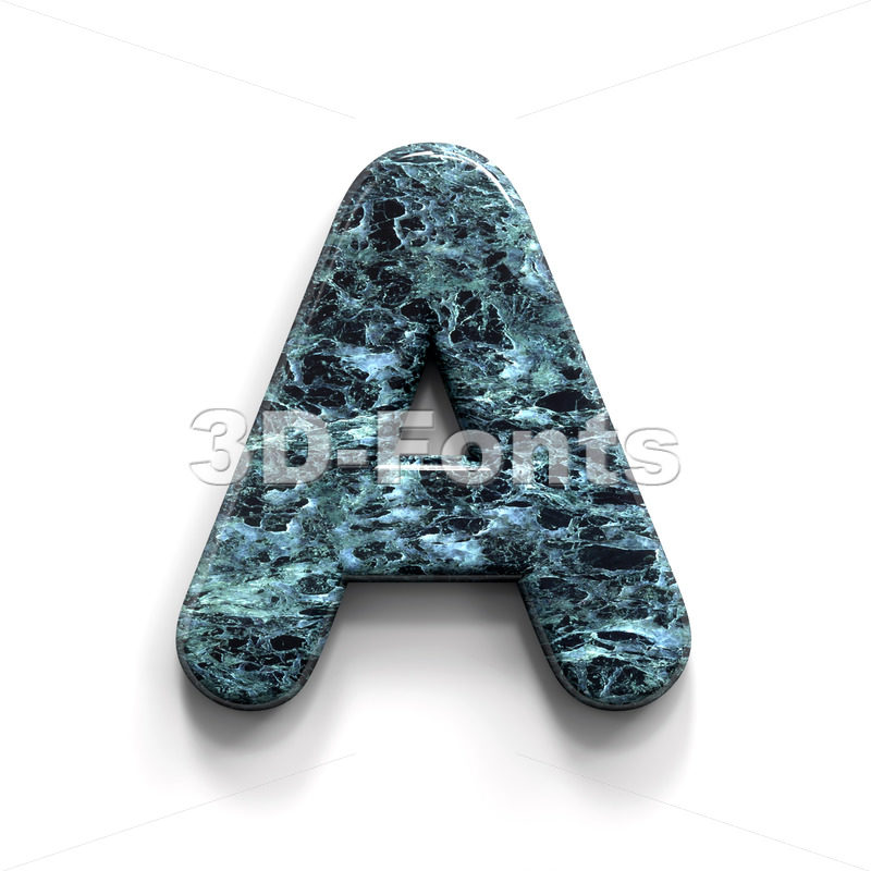 Marble letter A - Capital 3d character - 3D Fonts Collections | Top Quality Letters, Numbers and Symbols !