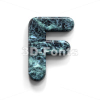 Marble letter F - Upper-case 3d font - 3D Fonts Collections | Top Quality Letters, Numbers and Symbols !