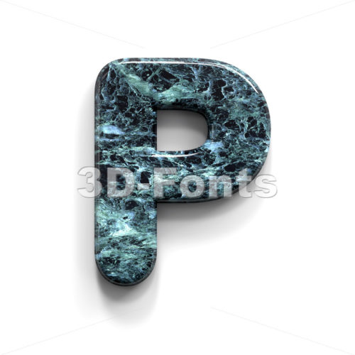 Upper-case marble character P - Capital 3d font - 3D Fonts Collections | Top Quality Letters, Numbers and Symbols !