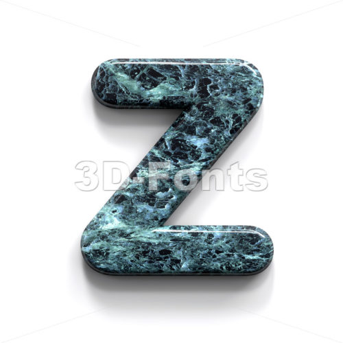 marble alphabet letter Z - Upper-case 3d font - 3D Fonts Collections | Top Quality Letters, Numbers and Symbols !