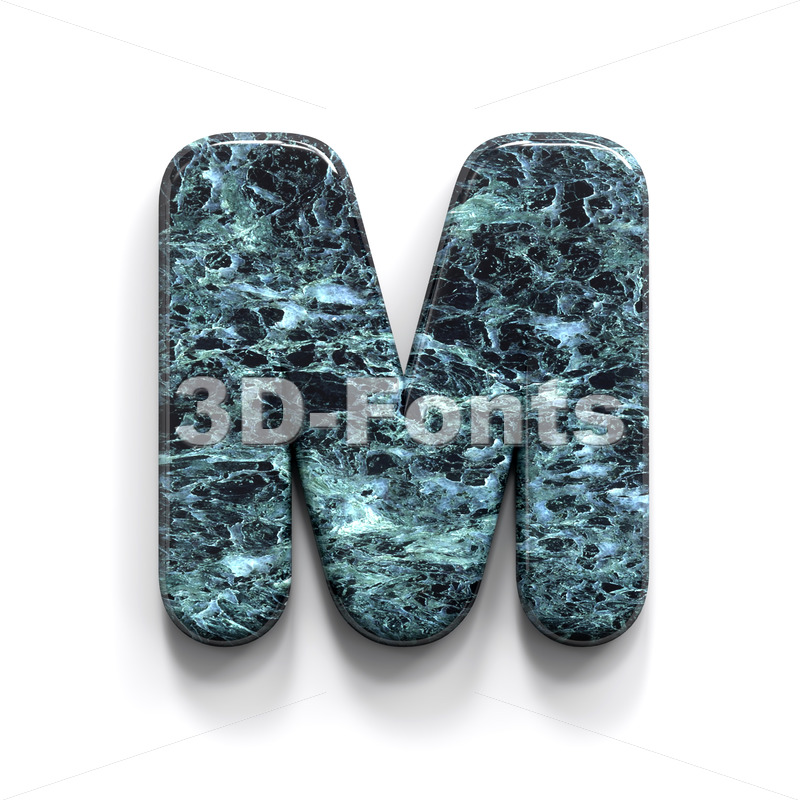 marble character M – Capital 3d letter – 3D Fonts Collections | Top Quality Letters, Numbers and Symbols !