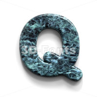 marble font Q - Upper-case 3d character - 3D Fonts Collections | Top Quality Letters, Numbers and Symbols !