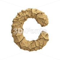 3d Soil clay font C - Capital 3d letter - 3D Fonts Collections | Top Quality Letters, Numbers and Symbols !