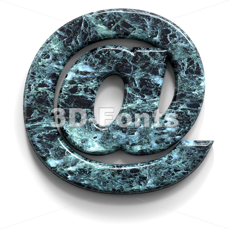 Marble at sign - 3d Arobase symbol - 3D Fonts Collections | Top Quality Letters, Numbers and Symbols !
