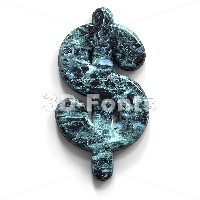 Marble dollar currency sign - 3d Money symbol - 3D Fonts Collections | Top Quality Letters, Numbers and Symbols !