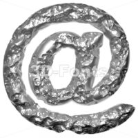 Melted steel at sign - 3d Arobase symbol - 3D Fonts Collections | Top Quality Letters, Numbers and Symbols !