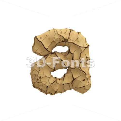 Soil clay font A - Lowercase 3d letter - 3D Fonts Collections | Top Quality Letters, Numbers and Symbols !