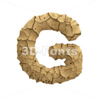 Uppercase Soil clay character G - Capital 3d font - 3D Fonts Collections | Top Quality Letters, Numbers and Symbols !