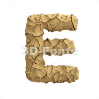 clay character E - Capital 3d letter - 3D Fonts Collections | Top Quality Letters, Numbers and Symbols !