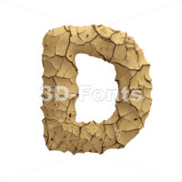 clay font D - Capital 3d character - 3D Fonts Collections | Top Quality Letters, Numbers and Symbols !