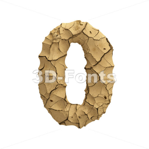 Soil clay number 0 -  3d digit - 3D Fonts Collections | Top Quality Letters, Numbers and Symbols !
