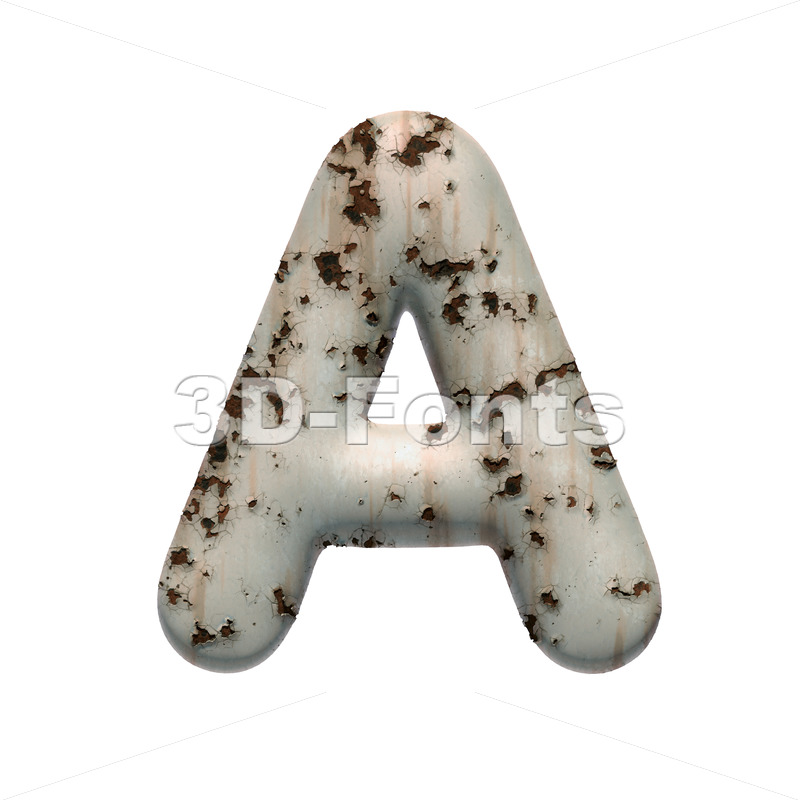 chipped paint letter A - Capital 3d character - 3D Fonts Collections | Top Quality Letters, Numbers and Symbols !