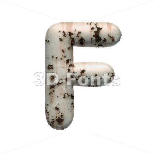 chipped paint letter F - Upper-case 3d font - 3D Fonts Collections | Top Quality Letters, Numbers and Symbols !