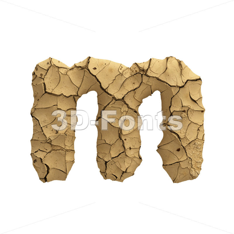 clay 3d font M - Lowercase 3d letter - 3D Fonts Collections | Top Quality Letters, Numbers and Symbols !