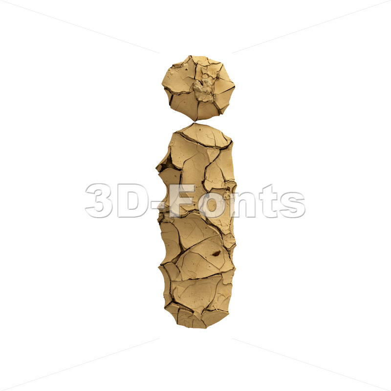 clay alphabet letter I - Small 3d character - 3D Fonts Collections | Top Quality Letters, Numbers and Symbols !