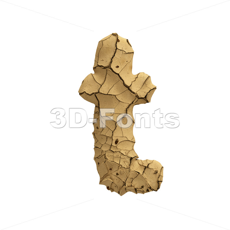 clay character T - Lower-case 3d letter - 3D Fonts Collections   Top Quality Letters, Numbers and Symbols !