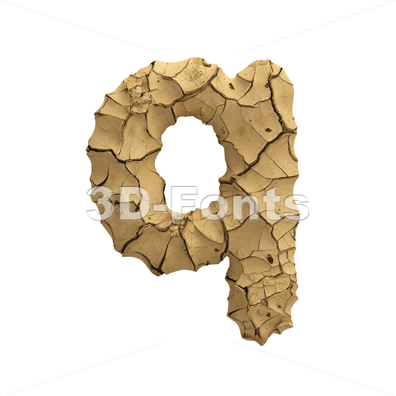 cracked ground alphabet font Q - Lower-case 3d letter - 3D Fonts Collections | Top Quality Letters, Numbers and Symbols !