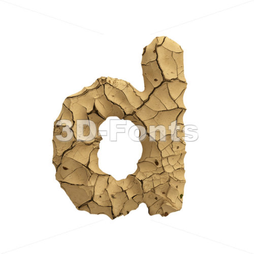 cracked ground alphabet letter D - Lowercase 3d font - 3D Fonts Collections | Top Quality Letters, Numbers and Symbols !