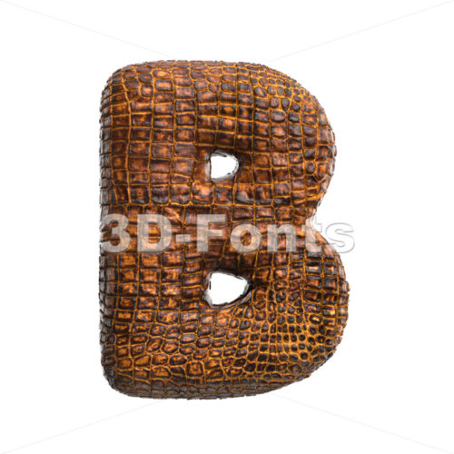 Capital alligator skin letter B - Uppercase 3d font - 3D Fonts Collections | Top Quality Letters, Numbers and Symbols !