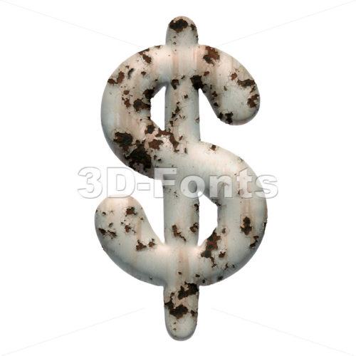 chipped paint dollar currency sign - 3d Money symbol - 3D Fonts Collections | Top Quality Letters, Numbers and Symbols !