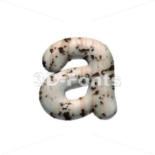 chipped paint font A - Lowercase 3d letter - 3D Fonts Collections | Top Quality Letters, Numbers and Symbols !