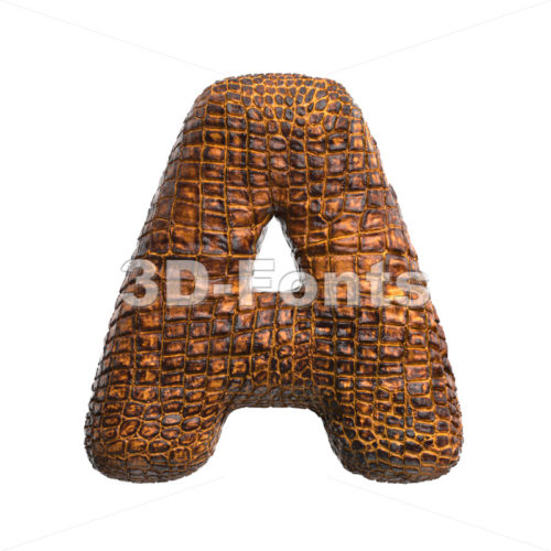 crocodile letter A - Capital 3d character - 3D Fonts Collections | Top Quality Letters, Numbers and Symbols !
