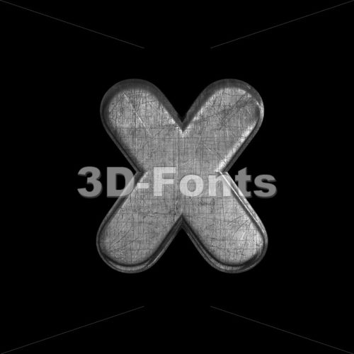 metal 3d font X – Small 3d letter – 3D Fonts Collections | Top Quality Letters, Numbers and Symbols !