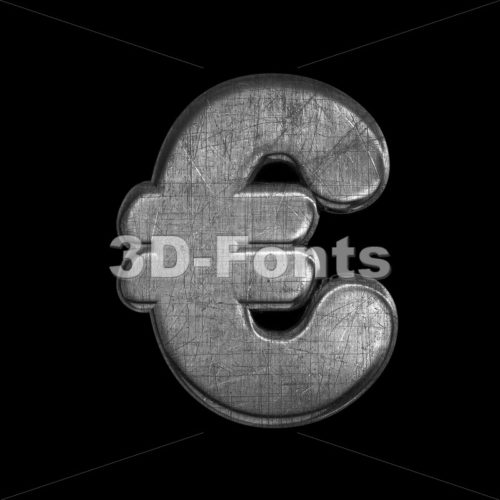 metal euro currency sign – 3d Business symbol – 3D Fonts Collections | Top Quality Letters, Numbers and Symbols !