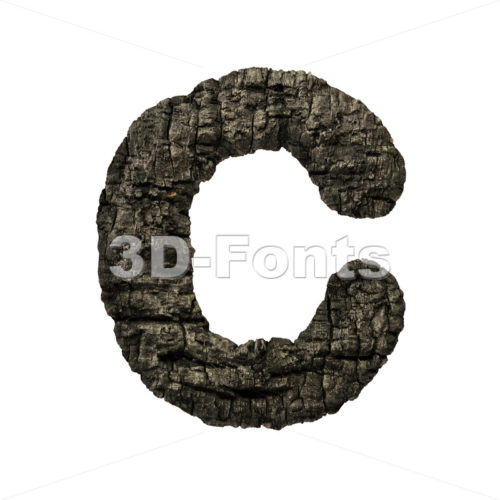 3d burnt wood font C – Capital 3d letter – 3D Fonts Collections | Top Quality Letters, Numbers and Symbols !