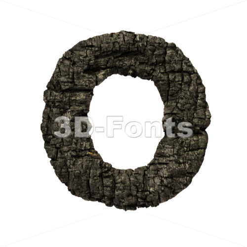 3d charcoal Upper-case letter O – Large 3d font – 3D Fonts Collections   Top Quality Letters, Numbers and Symbols !