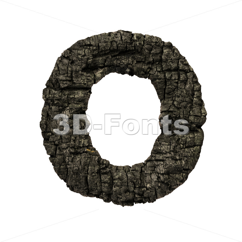 3d charcoal Upper-case letter O - Large 3d font - 3D Fonts Collections | Top Quality Letters, Numbers and Symbols !