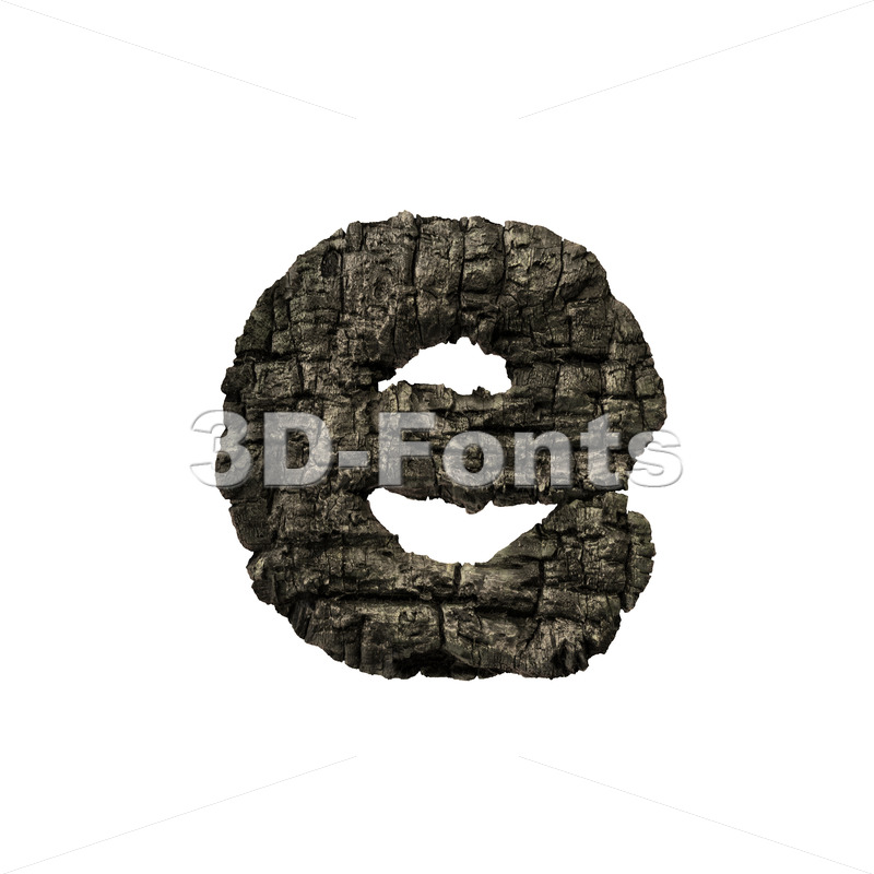 charred wood 3d character E – Lower-case 3d letter – 3D Fonts Collections | Top Quality Letters, Numbers and Symbols !