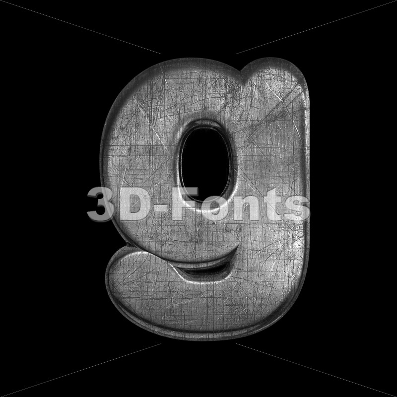 Lowercase metal font G – Small 3d character – 3D Fonts Collections | Top Quality Letters, Numbers and Symbols !