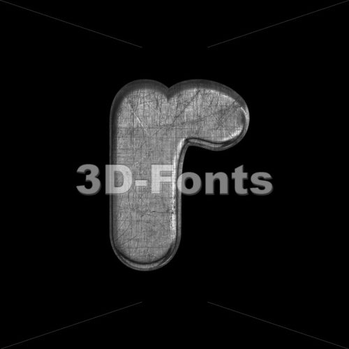 Small metal character R – Lower-case 3d letter – 3D Fonts Collections | Top Quality Letters, Numbers and Symbols !