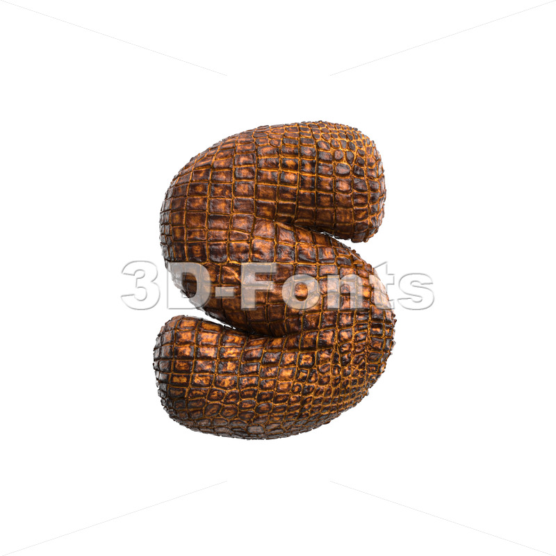 alligator skin letter S - Lowercase 3d font - 3D Fonts Collections   Top Quality Letters, Numbers and Symbols !