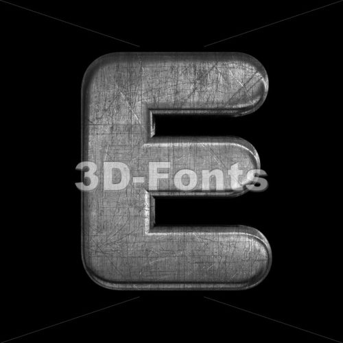 brushed metal character E - Capital 3d letter - 3D Fonts Collections | Top Quality Letters, Numbers and Symbols !