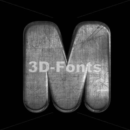brushed metal character M – Capital 3d letter – 3D Fonts Collections | Top Quality Letters, Numbers and Symbols !