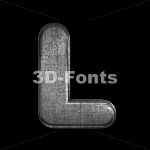 brushed metal font L – Capital 3d character – 3D Fonts Collections | Top Quality Letters, Numbers and Symbols !