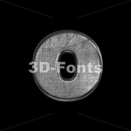 brushed metal font O – Small 3d letter – 3D Fonts Collections | Top Quality Letters, Numbers and Symbols !